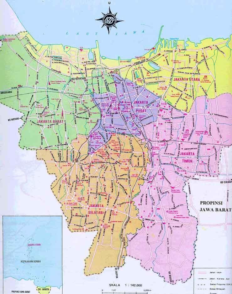 MAP OF JAKARTA | ColoradoMap.org