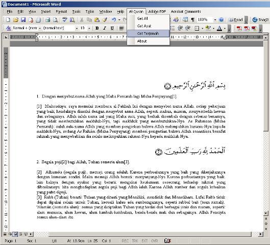 download quran in word